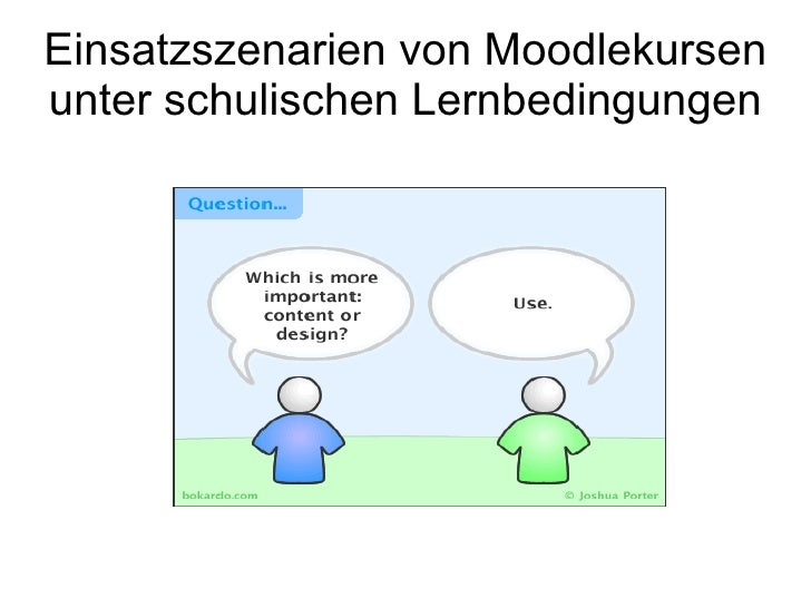 Einsatzszenarien von Moodlekursen unter schulischen Lernbedingungen
