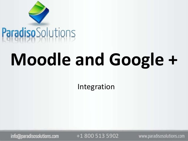Moodle And Google Integration Paradiso Solutions
