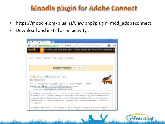 Moodle + Adobe Connect