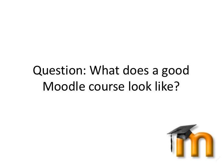 Moodle Course Design