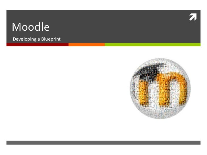 Moodle<br />Developing a Blueprint<br />