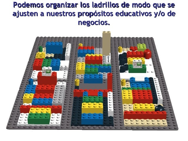 Podemos organizar los ladrillos de modo que se ajusten a nuestros propósitos educativos y/o de negocios.