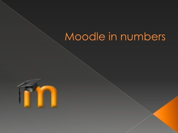 Moodle in numbers<br />