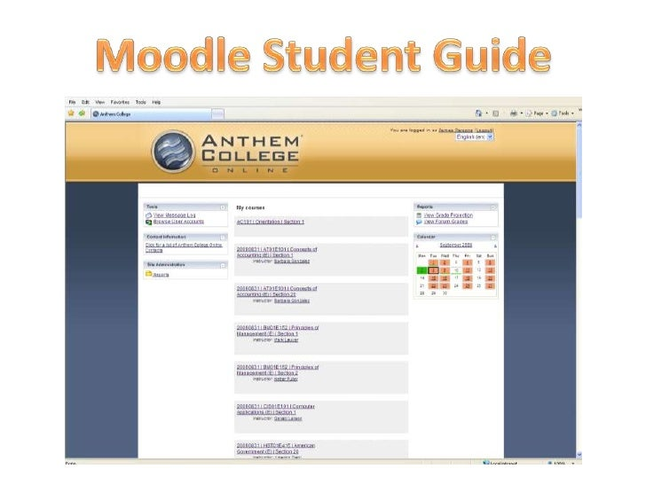 Moodle Student Guide<br />