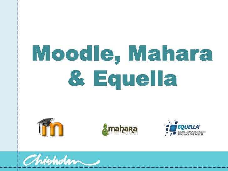 Moodle, Mahara & Equella<br />