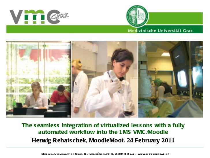 The seamless integration of virtualized lessons with a fully automated workflow into the LMS VMC/Moodle Herwig Rehatschek,...