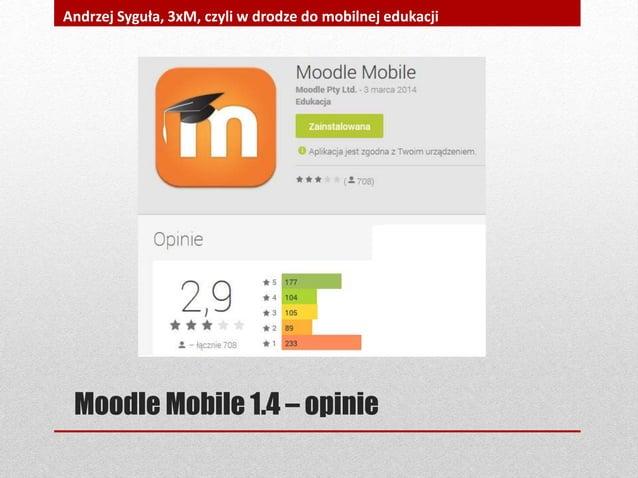 Moodle Mobile 1.4 – opinie Andrzej Syguła, 3xM, czyli w drodze do mobilnej edukacji