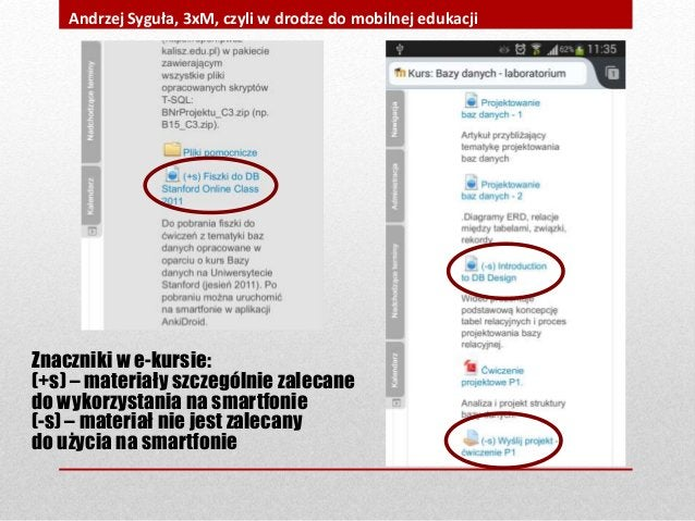 Znaczniki w e-kursie: (+s) – materiały szczególnie zalecane do wykorzystania na smartfonie (-s) – materiał nie jest zaleca...