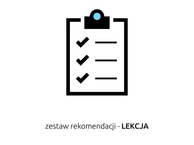 zestaw rekomendacji - LEKCJA