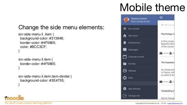 Moodle Mobile Themes Holaibmdatamanagementco