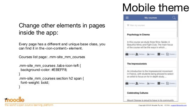 Creating Moodle Mobile remote themes