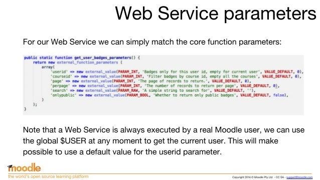 Mastering Moodle Web Services development