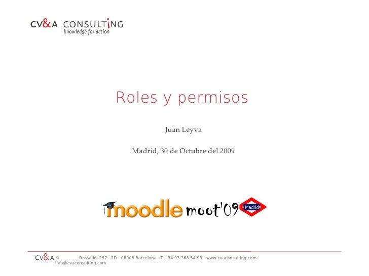 Roles y permisos                                                   Juan Leyva                                     Madrid, ...