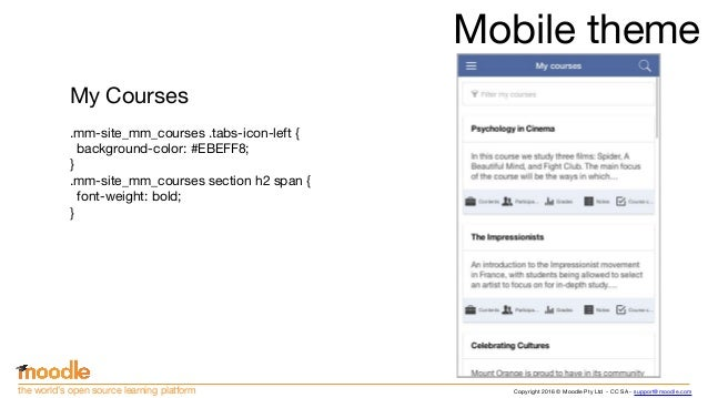 Creating Moodle Mobile remote themes (Moodle Moot US 2016)