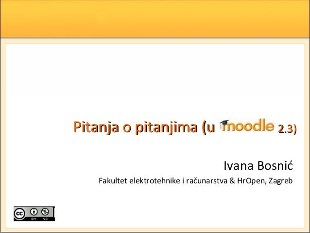 Pitanja o pitanjima (u                               2.3)                                      Ivana Bosnić    Fakultet el...