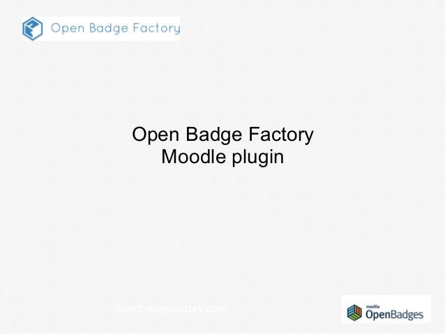 openbadgefactory.com Open Badge Factory Moodle plugin