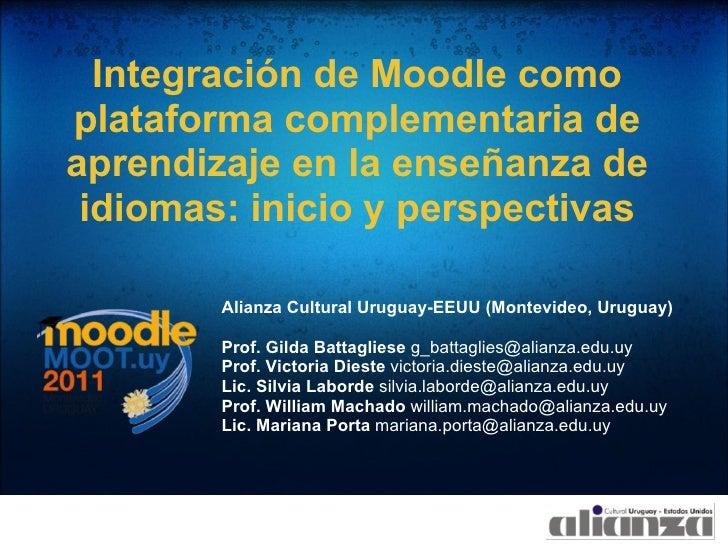 Integración de Moodle comoplataforma complementaria deaprendizaje en la enseñanza de idiomas: inicio y perspectivas       ...