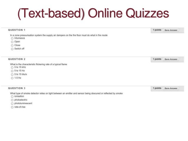 (Text-based) Online Quizzes
