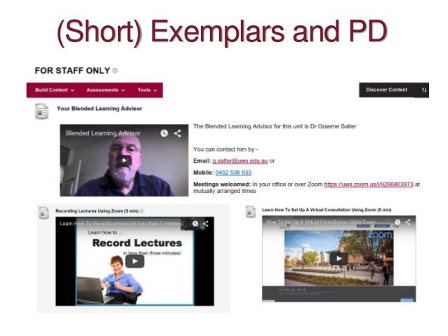 (Short) Exemplars and PD