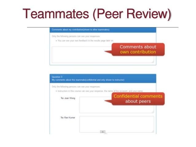 Teammates (Peer Review)