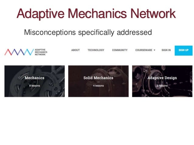 Adaptive Mechanics Network Misconceptions specifically addressed