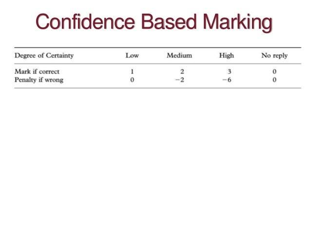Confidence Based Marking