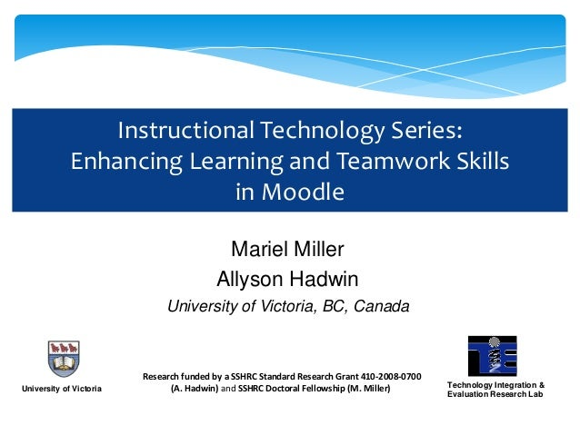 Instructional Technology Series:             Enhancing Learning and Teamwork Skills                           in Moodle   ...