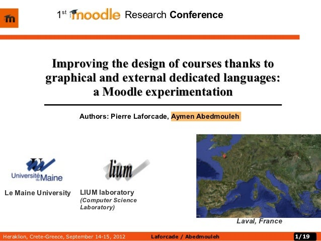 1st        oodle         Research Conference                Improving the design of courses thanks to               graphi...