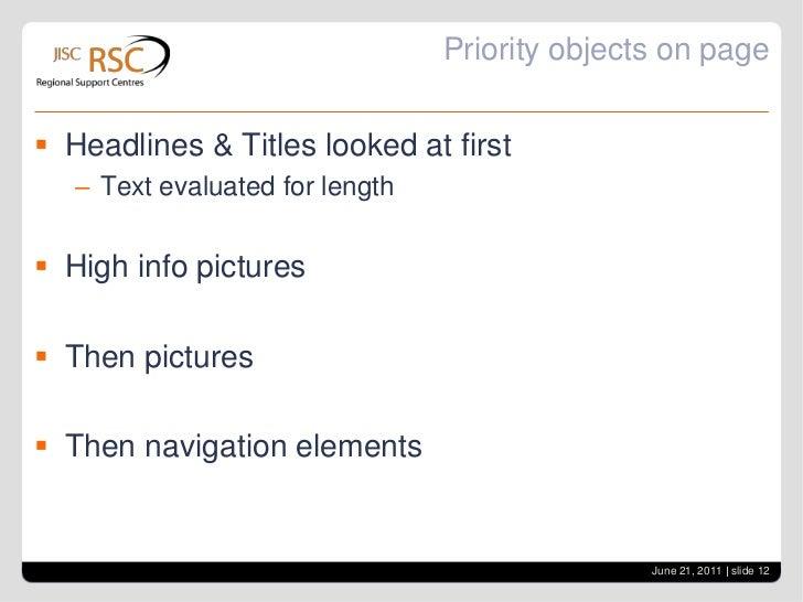 Screen layout<br />June 21, 2011| slide 11<br />