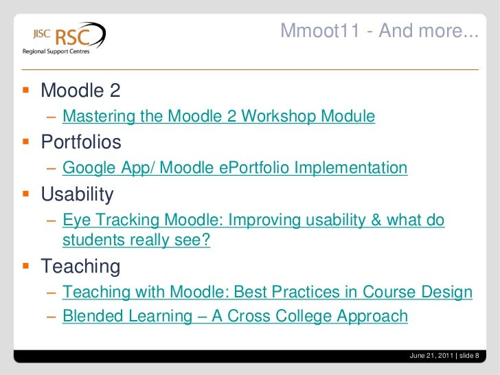 Mmoot11 - Assessment<br />Can Moodle do it all: course, assessment, SOW and lesson plans? <br />Monitoring student progres...