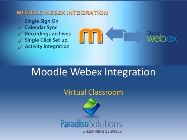 Moodle Webex Integration Virtual Classroom