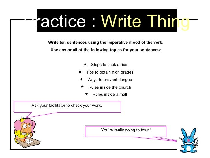 sentences with the word imperative