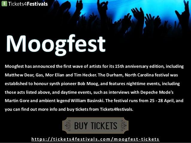 Cheap Moogfest 2019 Tickets and 2019 Lineup Slide 3