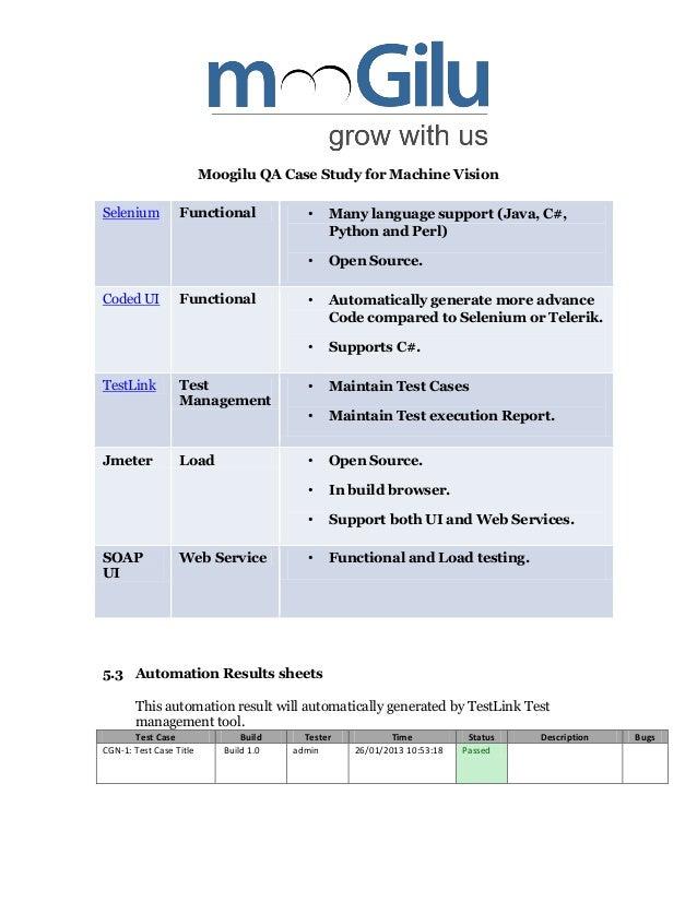 sample claim analysis with regard to applications testing