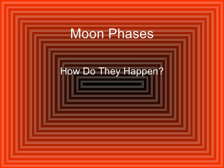 Moon Phases How Do They Happen?