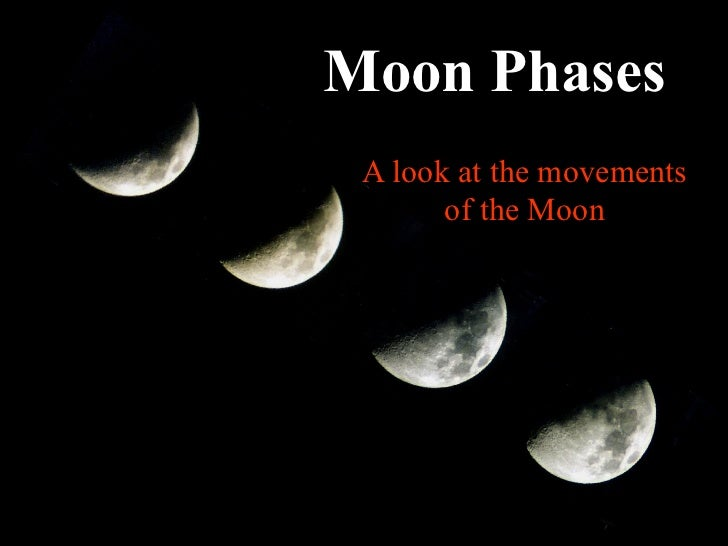 Moon Phases A look at the movements       of the Moon