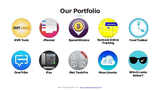 OverTribe iFax iNet ToolsPro Moon Invoice Our Portfolio KVM Tools iPlanner Spend Bitcoins Sectrack Online Tracking Which L...