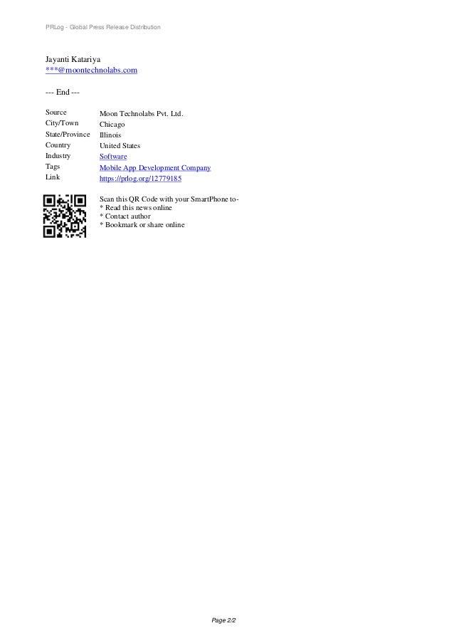 PRLog - Global Press Release Distribution Jayanti Katariya ***@moontechnolabs.com --- End --- Source Moon Technolabs Pvt. ...