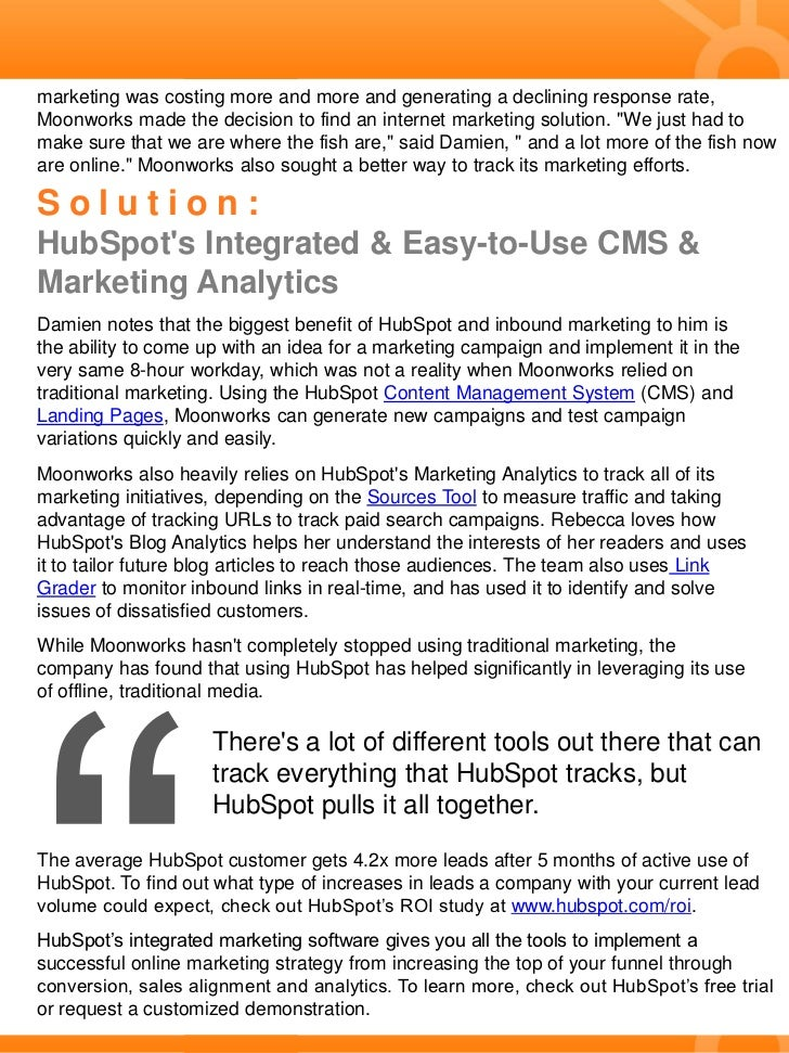 Case Study: Moonworks Uses Marketing Analytics to Test Campaigns & Increase Conversion Rates  Slide 2