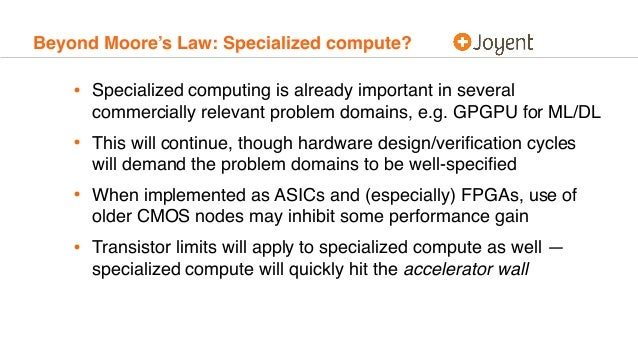Beyond Moore's Law: Specialized compute? • Specialized computing is already important in several commercially relevant pro...