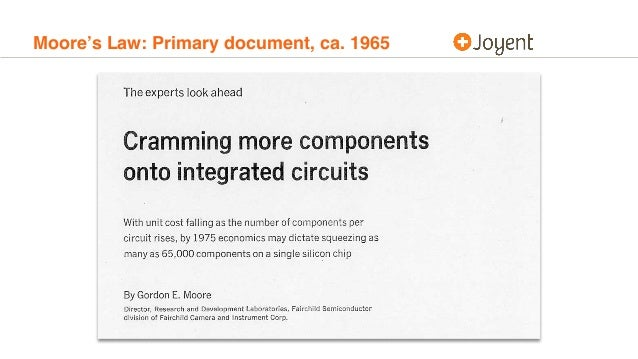 Moore's Law: Primary document, ca. 1965