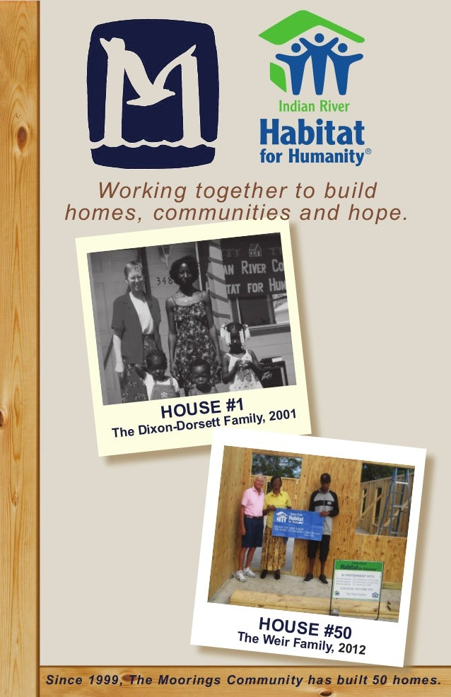 Working together to build  homes, communities and hope.                HOUSE Fa1 ily, 2001                      #         ...