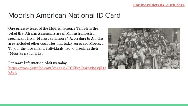 How To Become A Moorish American