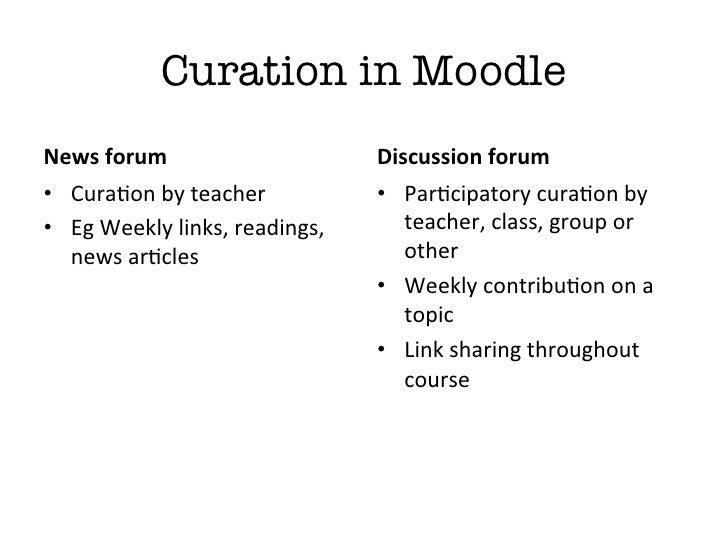 """Why should I use othercuration tools when I haveMoodle?""""Reason 4: Your Digital Profile/PLN"""