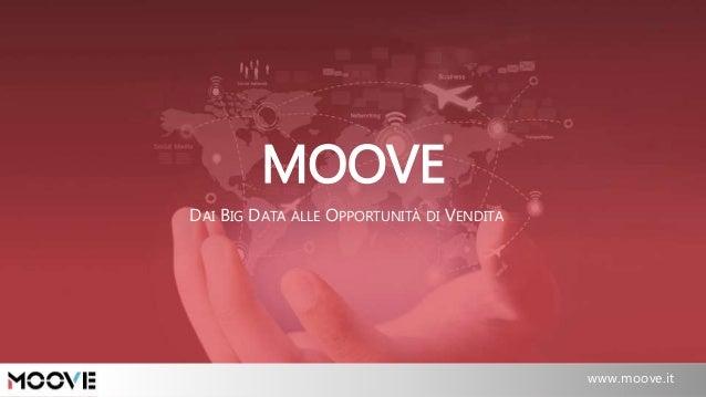 Padova, 02/2015 www.moove .it / info@moove.it MOOVE www.moove.it DAI BIG DATA ALLE OPPORTUNITÀ DI VENDITA