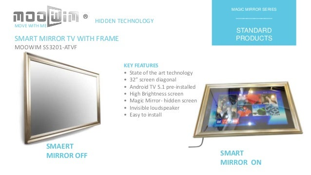 MOOWIM smart mirror TV with frame