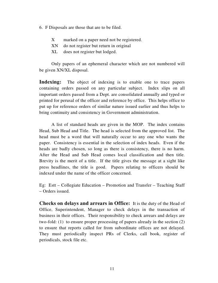 Manuai Of Office Procedures