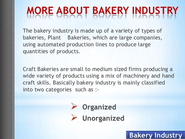 Mopex Model For Bakery Industries