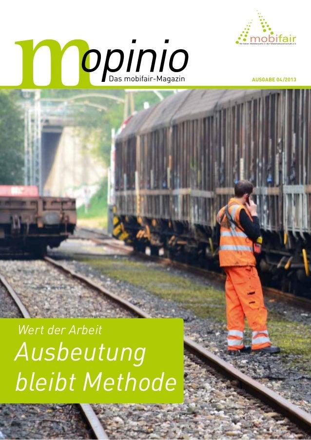 Ausgabe 04/2013  Wert der Arbeit  Ausbeutung bleibt Methode