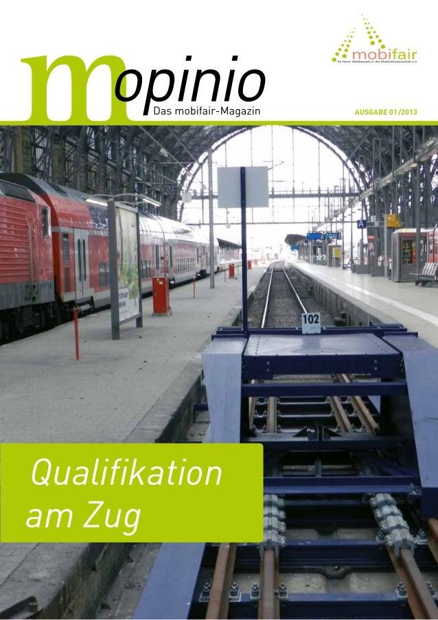 Ausgabe 01/2013Qualifikationam Zug